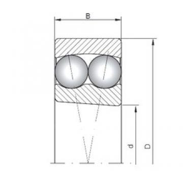 25 mm x 62 mm x 17 mm  ISO 1305K самоустанавливающиеся шарикоподшипники