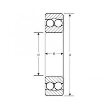 22,225 mm x 57,15 mm x 17,46 mm  SIGMA NMJ 7/8 самоустанавливающиеся шарикоподшипники