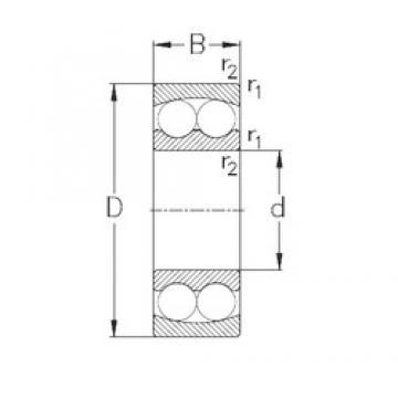 120 mm x 215 mm x 42 mm  NKE 1224 самоустанавливающиеся шарикоподшипники
