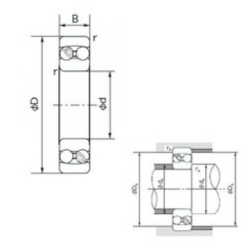 90 mm x 160 mm x 40 mm  NACHI 2218 самоустанавливающиеся шарикоподшипники