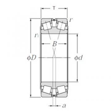 380 mm x 560 mm x 135 mm  NTN 323076 конические роликовые подшипники