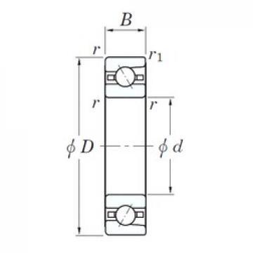 55 mm x 90 mm x 18 mm  KOYO 3NC HAR011C FT радиально-упорные шарикоподшипники