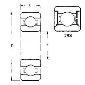 75 mm x 130 mm x 25 mm  FBJ 6215-2RS радиальные шарикоподшипники