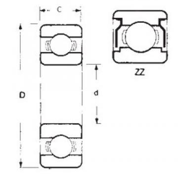 25 mm x 47 mm x 8 mm  FBJ 16005ZZ радиальные шарикоподшипники