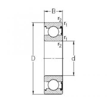 80 mm x 125 mm x 22 mm  NKE 6016-RSR радиальные шарикоподшипники