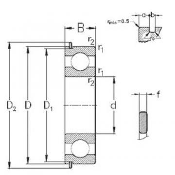 25 mm x 47 mm x 12 mm  NKE 6005-NR радиальные шарикоподшипники