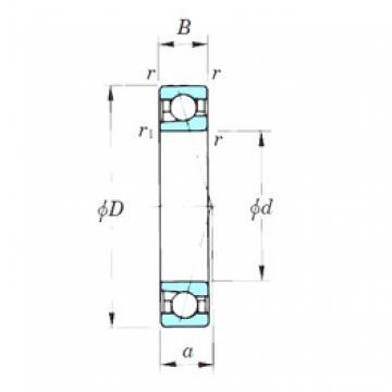 140 mm x 210 mm x 33 mm  KOYO 7028CPA радиально-упорные шарикоподшипники