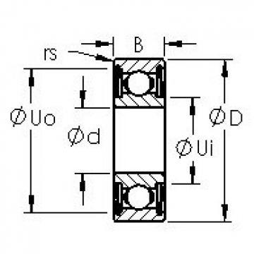 AST 695HZZ радиальные шарикоподшипники