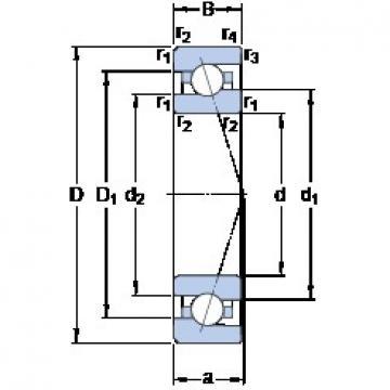 70 mm x 110 mm x 20 mm  SKF 7014 ACE/P4A радиально-упорные шарикоподшипники
