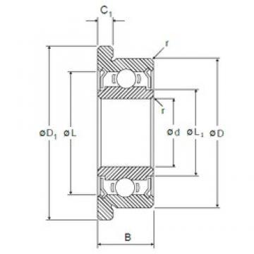 2,5 mm x 6 mm x 2,6 mm  NMB LF-625ZZ радиальные шарикоподшипники