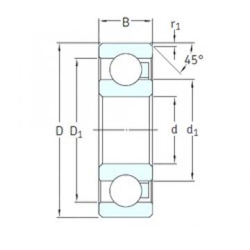 5 mm x 16 mm x 5 mm  SKF 625/HR22T2 радиальные шарикоподшипники