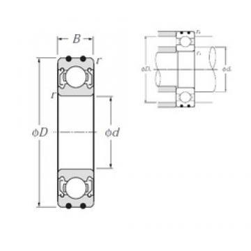 20 mm x 52 mm x 15 mm  NTN AC-6304ZZ радиальные шарикоподшипники