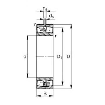 180 mm x 250 mm x 52 mm  FAG 23936-S-MB сферические роликоподшипники