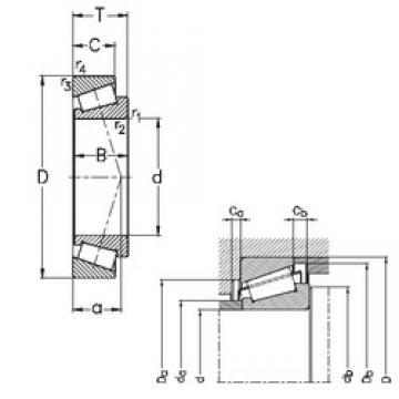 90 mm x 140 mm x 32 mm  NKE 32018-X конические роликовые подшипники