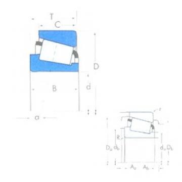 106,362 mm x 165,1 mm x 36,512 mm  Timken 56418/56650 конические роликовые подшипники
