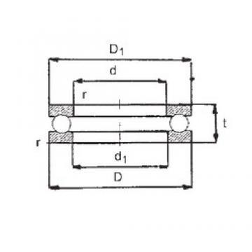 FBJ 51218 упорные шарикоподшипники