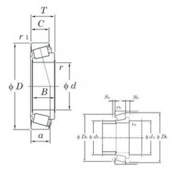 105 mm x 225 mm x 77 mm  KOYO 32321 конические роликовые подшипники