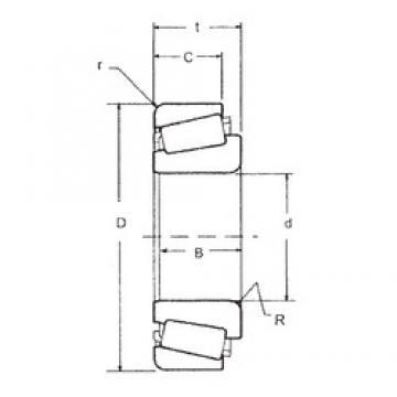 77,788 mm x 117,475 mm x 25,4 mm  FBJ LM814849/LM814810 конические роликовые подшипники