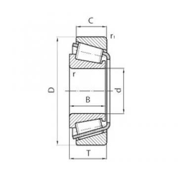110 mm x 240 mm x 57 mm  CYSD 31322 конические роликовые подшипники