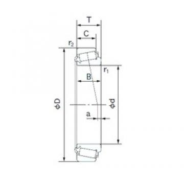 110 mm x 180 mm x 56 mm  NACHI E33122J конические роликовые подшипники