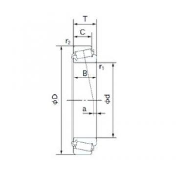 44.450 mm x 87.312 mm x 30.886 mm  NACHI 3578/3525 конические роликовые подшипники