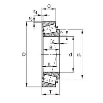 21,43 mm x 50,005 mm x 18,288 mm  FAG KM12649-M12610 конические роликовые подшипники