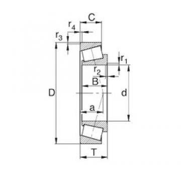 25 mm x 62 mm x 18.45 mm  KBC 30305DX конические роликовые подшипники