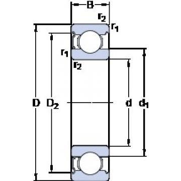 17 mm x 40 mm x 12 mm  SKF 6203-Z радиальные шарикоподшипники