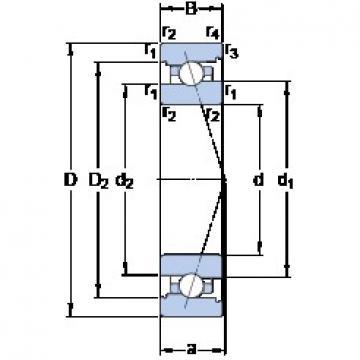 80 mm x 125 mm x 22 mm  SKF 7016 CB/P4A радиально-упорные шарикоподшипники