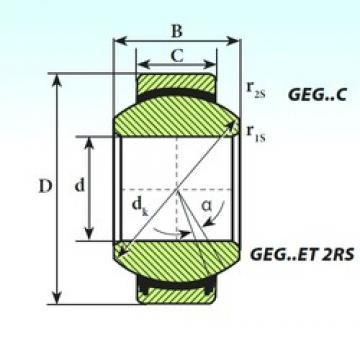 25 mm x 47 mm x 28 mm  ISB GEG 25 C подшипники скольжения