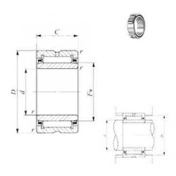 200 mm x 250 mm x 50 mm  IKO NA 4840 игольчатые подшипники