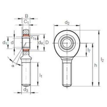 35 mm x 55 mm x 25 mm  INA GAR 35 UK-2RS подшипники скольжения