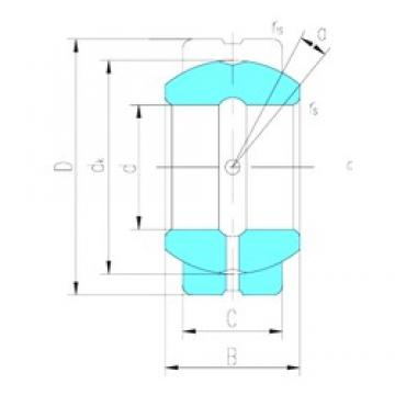 22,225 mm x 36,513 mm x 19,431 mm  LS GEZ22ES подшипники скольжения