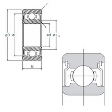 6,35 mm x 19,05 mm x 7,142 mm  NMB RI-1214ZZ радиальные шарикоподшипники