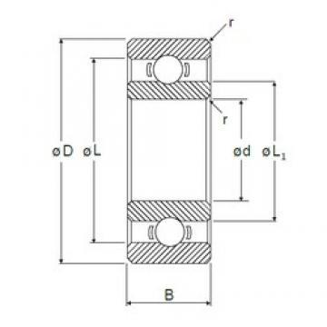 1 mm x 4 mm x 1,6 mm  NMB R-410 радиальные шарикоподшипники