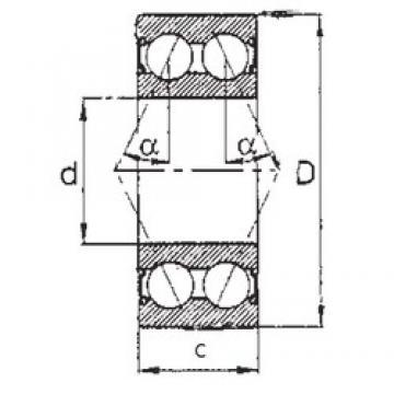 50 mm x 90 mm x 30,162 mm  FBJ 5210-2RS радиально-упорные шарикоподшипники