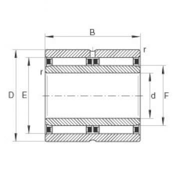 25 mm x 42 mm x 32 mm  INA NAO25X42X32-ZW-ASR1 игольчатые подшипники