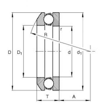 FAG 53211 упорные шарикоподшипники