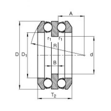 30 mm x 68 mm x 10 mm  FAG 54307 упорные шарикоподшипники