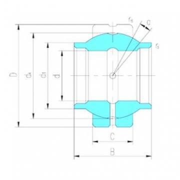 25 mm x 42 mm x 25 mm  LS GEEW25ES подшипники скольжения