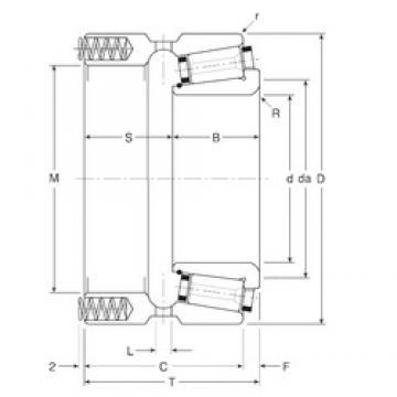 133,35 mm x 196,85 mm x 42 mm  Gamet 164133X/164196XP конические роликовые подшипники