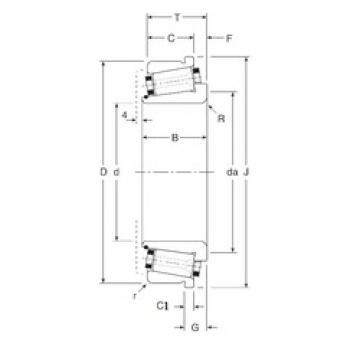 120 mm x 190 mm x 50 mm  Gamet 184120/184190C конические роликовые подшипники