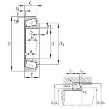 95,25 mm x 152,4 mm x 36,322 mm  FAG K594-A-592-A конические роликовые подшипники