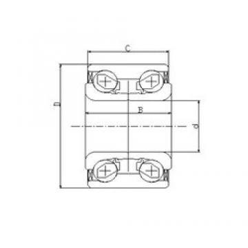 35 mm x 72 mm x 33 mm  ILJIN IJ131008 радиально-упорные шарикоподшипники