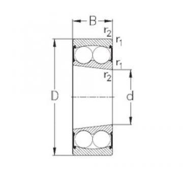 35 mm x 72 mm x 23 mm  NKE 2207-K-2RS самоустанавливающиеся шарикоподшипники