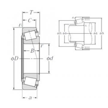 46,038 mm x 95,25 mm x 29,9 mm  NTN 4T-436/432 конические роликовые подшипники