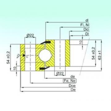 ISB NB1.25.0455.201-2PPN упорные шарикоподшипники