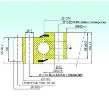 ISB EB1.25.1076.200-1SPPN упорные шарикоподшипники