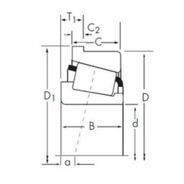 203,2 mm x 317,5 mm x 63,5 mm  Timken 93800/93125-B конические роликовые подшипники
