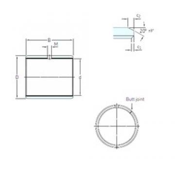 12 mm x 14 mm x 8 mm  SKF PCM 121408 E подшипники скольжения